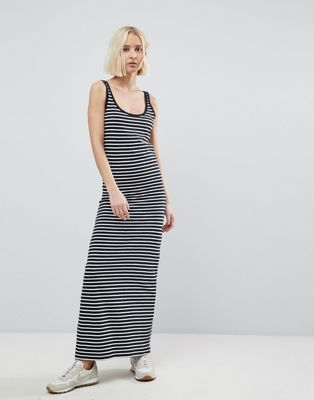 Vero Moda Stripe Jersey Maxi Dress
