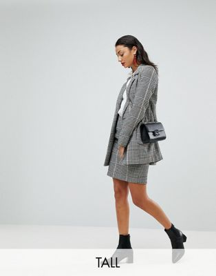 Vero Moda Tall Check Mini Skirt