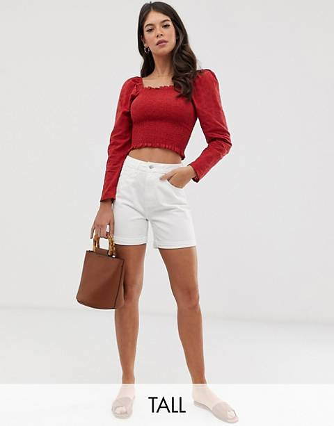 Vero Moda Tall high waist mom short