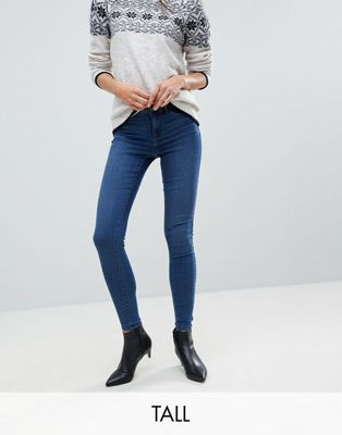 Vero Moda Tall Super Skinny Jean With Ankle Zip