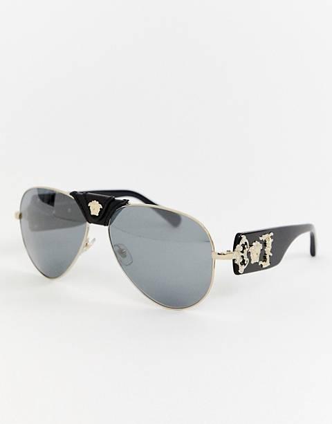 Versace – 0VE2150Q – Pilotensonnenbrille mit abnehmbarem Brauensteg