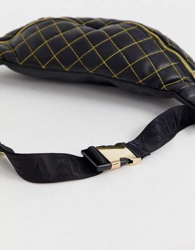 Versace Jeans Couture quilted crossover bag