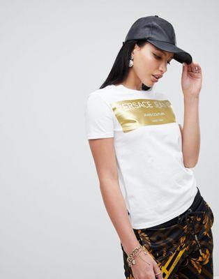 Versace Jeans metallic logo tee
