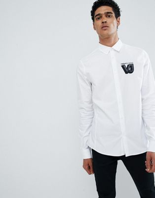 Versace Jeans shirt in white with small logo