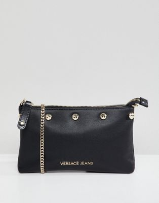 Versace Jeans studded crossbody bag with chain strap
