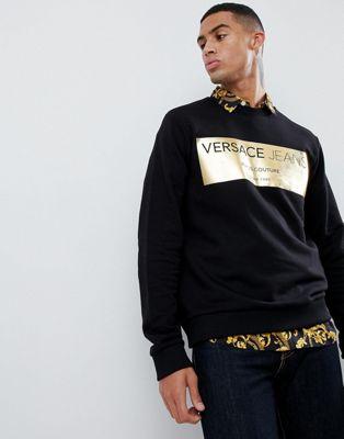 Versace Jeans - Sweat-shirt à imprimé doré