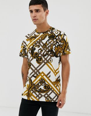 Versace Jeans t-shirt with all over baroque print