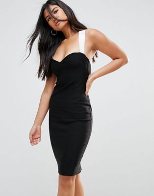 Vesper Pencil Dress With Contrast Strap Detail