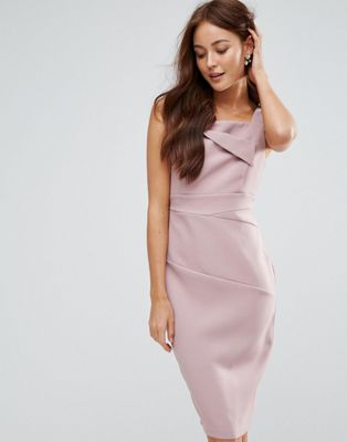 Vesper Pencil Midi Dress With Ruched Detail