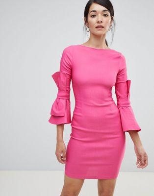 Vesper – Pennklänning med rosett på ärmen