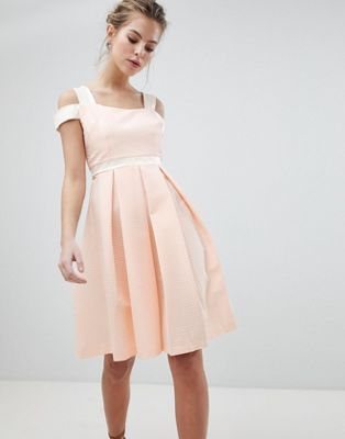 Vesper Skater Dress With Strap Detail