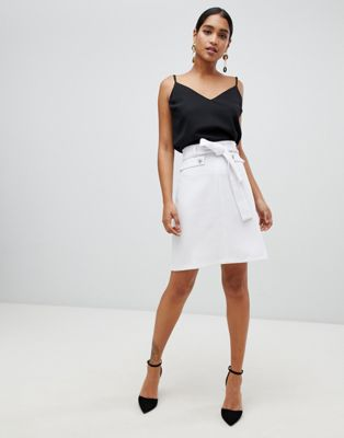 Vesper tie waist pencil skirt