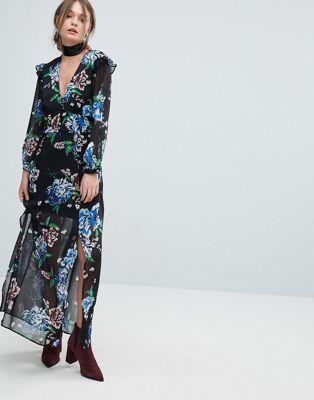 Imagen 1 de Vestido con estampado floral de Miss Selfridge