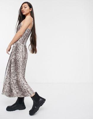 Vestido de camuflaje de serpiente de Soaked In Luxury