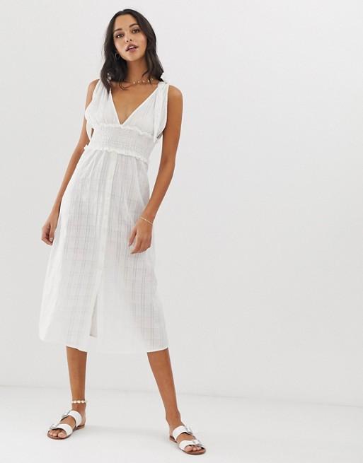 Vestido de playa blanco River de Fashion Union