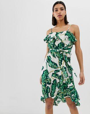 Imagen 1 de Vestido veraniego con estampado tropical de AX Paris