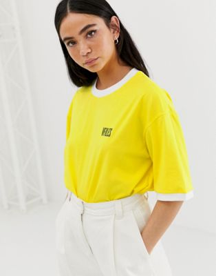 VFILES Logo T-Shirt In Yellow