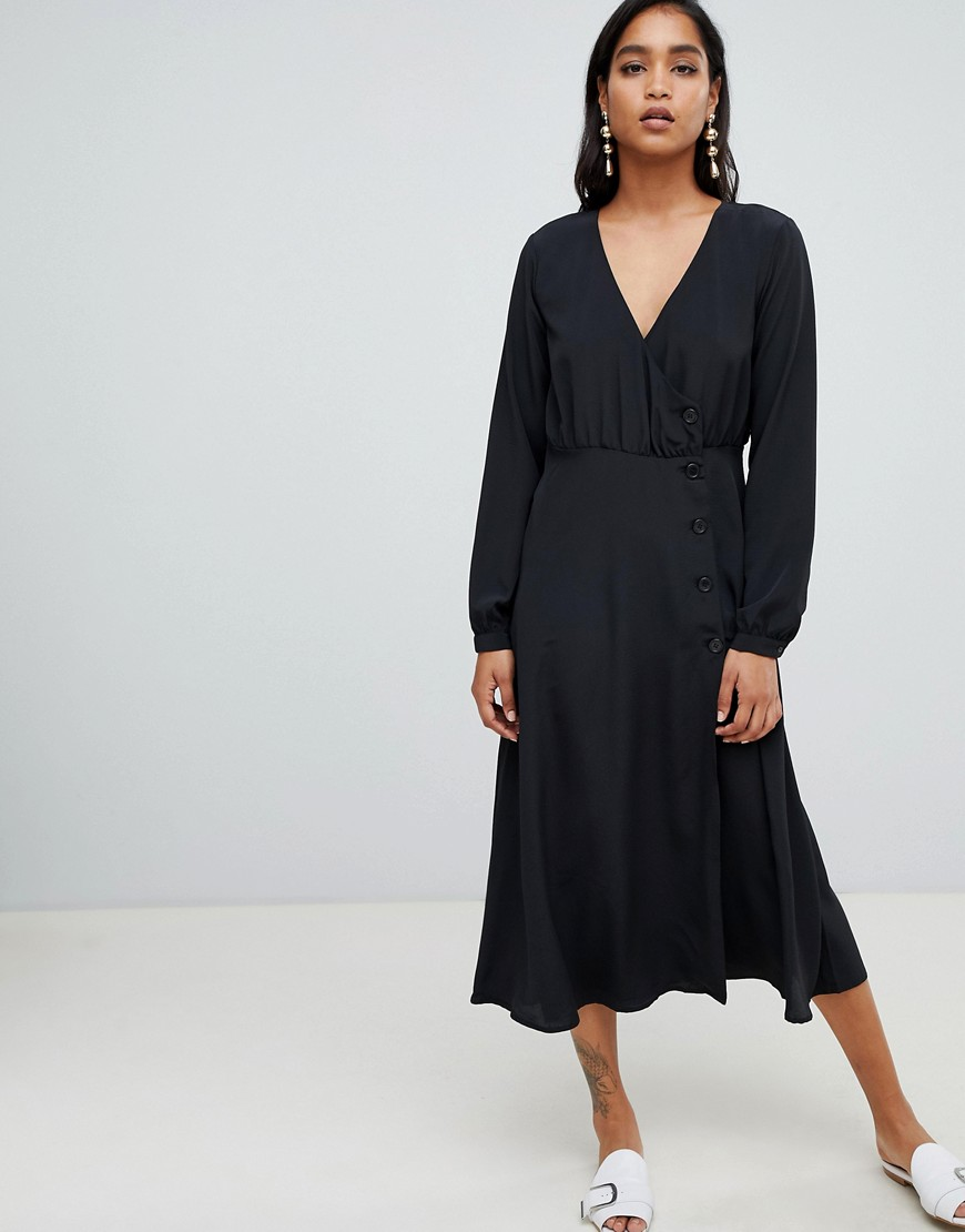 Vila Button Side Midi Dress by Vila