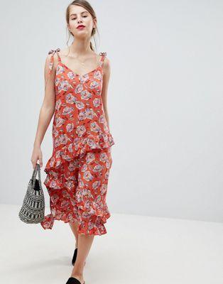 Vila Floral Frill Cami Dress