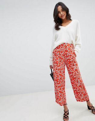 Image 1 of Vila Floral Wide Leg PANTS