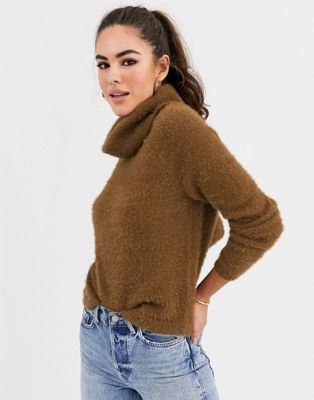 Vila fluffy roll neck sweater