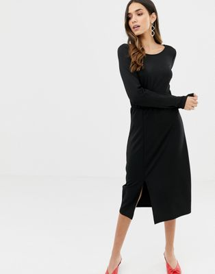 Vila gather detail midi dress