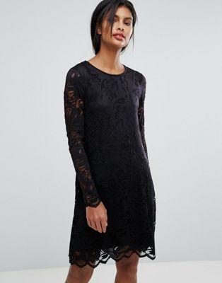Image 1 of Vila Lace Shift Dress