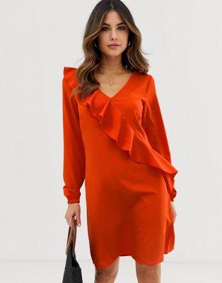Image 1 of Vila Ruffle Panel Dress