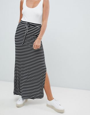 Image 1 of Vila stripe jersey maxi skirt