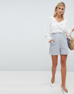 Image 1 of Vila stripe shorts