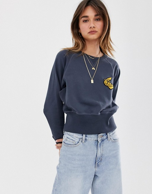 Vivienne Westwood Anglomania - Cropped sweater met logo