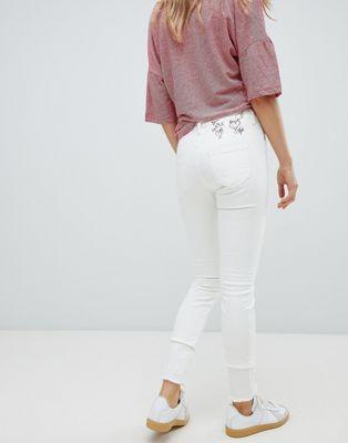 Afbeelding 1 van Vivienne Westwood Anglomania - Skinny jeans met hoge taille, borduurwerk en onafgewerkte zoom
