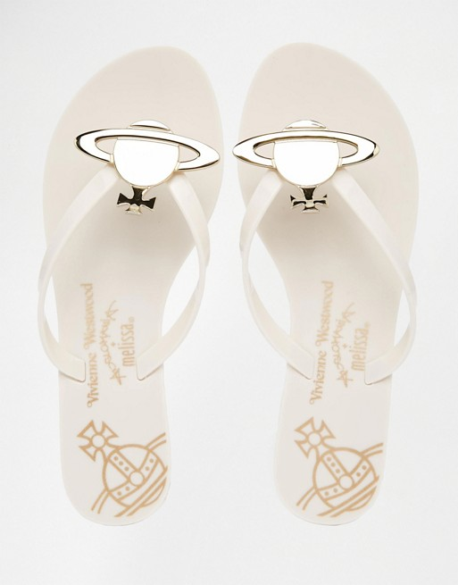 super popular 100% genuine the best attitude Vivienne Westwood for Melissa Harmonic Orb Flip Flops