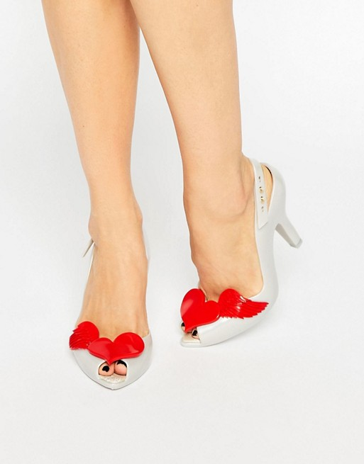 5bf67d2465 Vivienne Westwood for Melissa Lady Dragon Pearl Red Cherub Sling Heeled  Sandals | ASOS