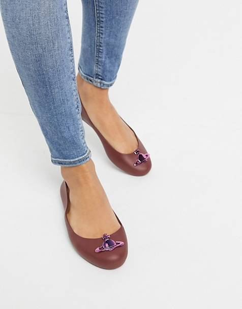 Vivienne Westwood for Melissa Orb ballet in plum