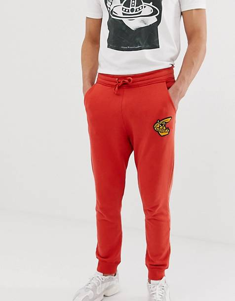 eb4c784d899 Vivienne Westwood organic cotton joggers in red with logo