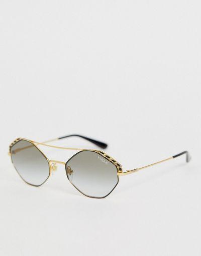 Vogue Eyewear 0VO4134S hexagonal sunglasses with double brow