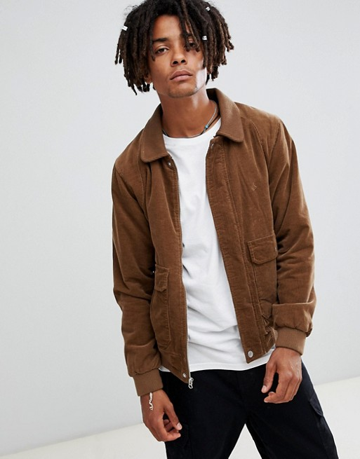 Image 1 of Volcom domjohn corduroy jacket in brown