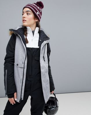Volcom Fawn insulated ski jacket in grey