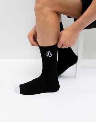 Volcom – Schwarze Socken mit Stone-Logo