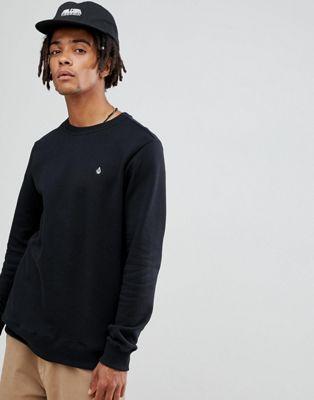 Image 1 sur Volcom - Sweat-shirt avec petit logo - Noir