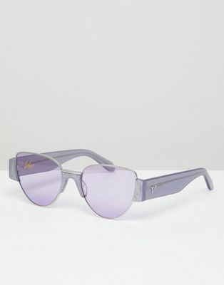 Vow London Dahlia cat eye sunglasses in lilac glitter