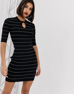 Изображение 1 из Вязаное платье-футляр с принтом Morgan