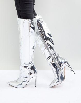 Высокие сапоги с острым носком ASOS CAIDEN