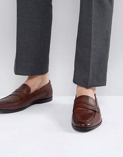 Walk London – Raphael – Loafer aus braunem Leder