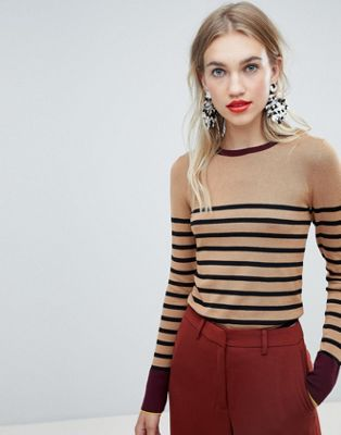 Warehouse breton block stripe jumper