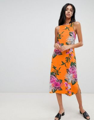 Warehouse Chrysanthemum Cami Dress