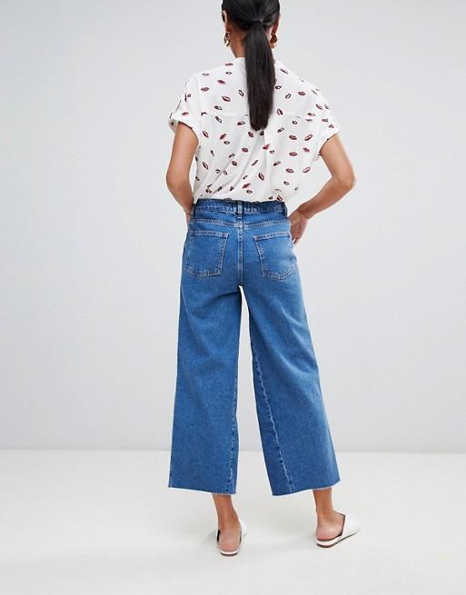 Mittelblau Jeans in mit verwaschenem mittlerewaschung Warehouse Bein weitem nBwYAdHq