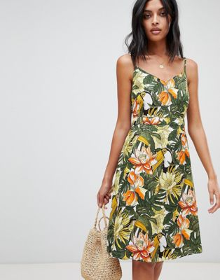 Warehouse Toucan Cami Dress