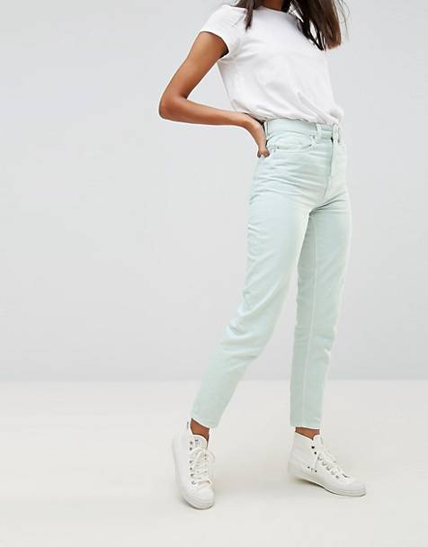 Waven Elsa Pale Mint Mom Jeans